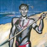 »Mann mit Speer« München, Mai 1985 Öl und Kunstharzlack auf Leinwand 120 x 120 cm