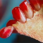Granatapfel angeschnitten