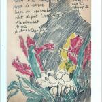 Zeichnung 1983.014 Nach dem Dinner Unvergesslich, Gudruns Kochkünste, 1983 in München