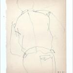 Zeichnung 1983.019 In Neil Aubrey's Frisiersalon, München, 1983 Neil Aubrey