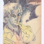 Zeichnung 1983.002 Im Paraplue, München, 1983