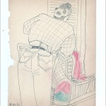 Zeichnung 1983.020 In Neil Aubrey's Frisiersalon, München, 1983 Hair Stylist