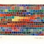 »Colours meet« München 1976 Aquarell 17 cm x 12 cm