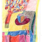 »Ohne Titel« Berlin 1993, Sommer Farbstift auf Zeichenpapier