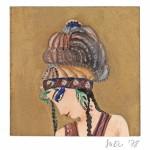 »Sheherazade« München 1978 Tempera und Goldbronze auf Zeichenkarton 8 cm x 8 cm