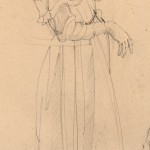 Detail »Zwei Mädchen« Zeichnen  nach Modell München 1977 Bleistift auf  getöntem Skizzenpapier 24 cm x 37 cm