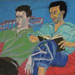 »Frank Lucht und Sasha R«  München 1983 Acryl auf Leinwand 120 x 180 cm